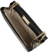 Jimmy Choo Alba elaphe-trimmed leather shoulder bag