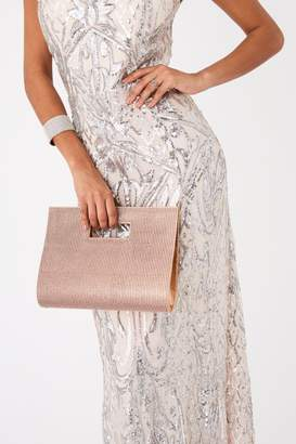 Sass & Belle Rose Gold Diamante Clutch Bag