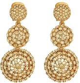 Oscar de la Renta Pave Crystal Dome Drop C Earrings Earring