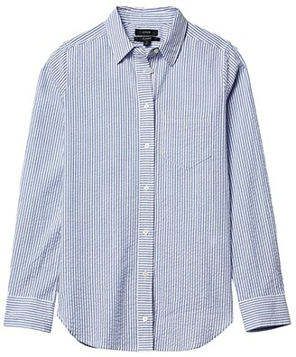 J.Crew Boy Shirt in Seersucker (Brilliant) Women's Clothing