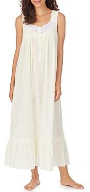 Eileen West Cotton Lace Trim Swiss Dot Ballet Nightgown