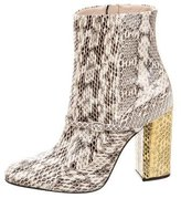 No.21 No. 21 Multicolor Snakeskin Ankle Boots