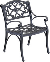 JCPenney Home Styles Biscayne Pair of Outdoor Dining Chairs - Black Finish