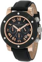 Rosegold Charles Hubert Charles-Hubert, Paris Men's 3893-BRG Premium Collection Rose-Gold and Ion-Plated Stainless Steel Chronograph Watch