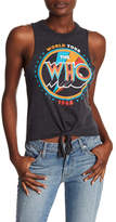 Chaser The Who Tie Front Muscle Tank
