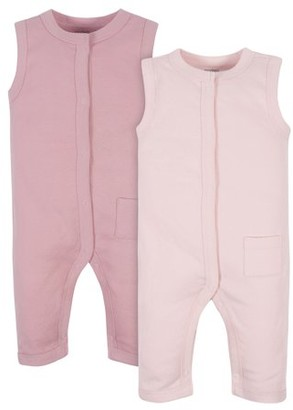 Gerber Modern Moments by Baby Girl Rompers, 2-Pack