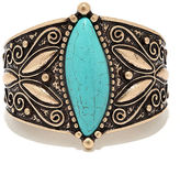 LuLu*s Reign Forest Turquoise and Gold Bracelet