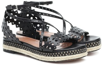 Alaia Leather espadrille sandals
