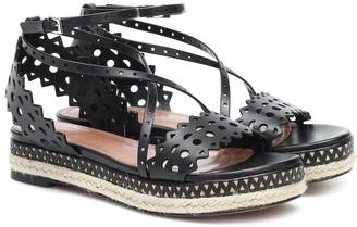 Alaia Leather espadrille sandals