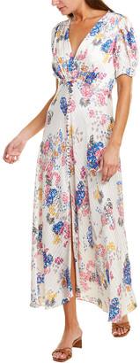 Saloni Lea Silk Maxi Dress