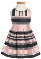 Milly Minis Girl's Illusion Stripe Sleeveless Dress