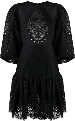 Borgo de Nor Backless Lace-Detail Dress