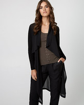 Le Château Knit & Woven Waterfall Duster Cardigan