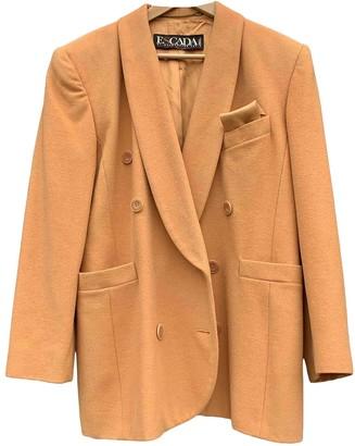 Escada Orange Wool Coat for Women