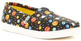 Toms Glow-in-the-Dark Planets Classic Slip-On Shoe (Little Kid & Big Kid)