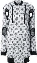 Kokon To Zai logo embroidered sweater dress - women - Cotton - XS