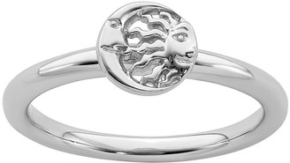 Simply Stacks Sterling Sun & Moon Ring