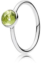 Pandora Ring - Sterling Silver & Glass August Birthstone Droplet