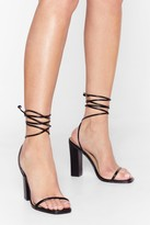 Womens Highly Strung Lace-Up Tie Heels - black - 5