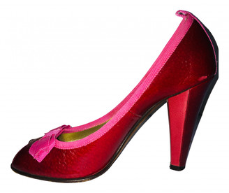 Marc by Marc Jacobs Red Leather Heels