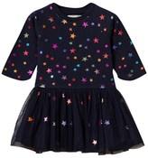 Stella McCartney Navy Multi Foil Stars India Dress