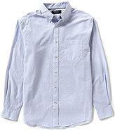 Roundtree & Yorke Trim-Fit Long-Sleeve Horizontal-Stripe Sportshirt