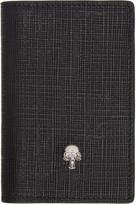 Alexander McQueen Black and Gunmetal Skull Pocket Organizer