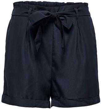 Jacqueline De Yong High Waist Shorts with Tie Front