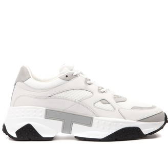 Tod's Tods White Leather & Fabric Sneaker