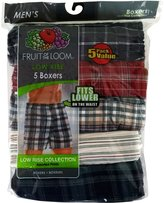 Fruit of the Loom Men's Low Rise Collection 5 Boxers (5-Pack Value)