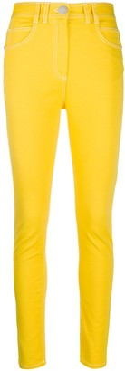 Balmain Contrast-Stitching Slim-Fit Jeans