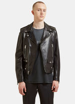 Saint Laurent Classic Leather Motorcycle Jacket In Black