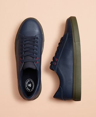Brooks Brothers Color-Contrast Leather Sneakers