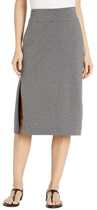 Toad&Co Samba Paseo Midi Skirt (Charcoal Heather) Women's Skirt