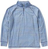 Margaritaville Fair Isle Quarter-Zip Burnout Fleece Pullover