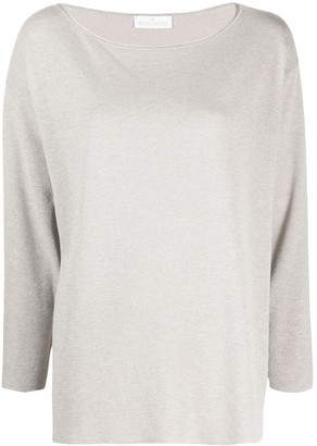 Bruno Manetti Boat Neck Knitted Top