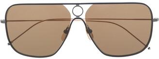 Thom Browne Eyewear Oversized Rectangular-Frame Sunglasses
