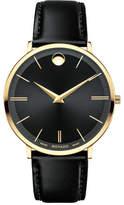 Movado 40mm Ultra Slim Watch, Black