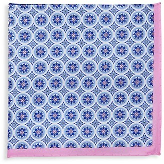 Saks Fifth Avenue Made In Italy Floral-Print Silk Pocket Square