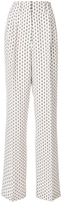 Etro Paisley Print High-Waisted Trousers
