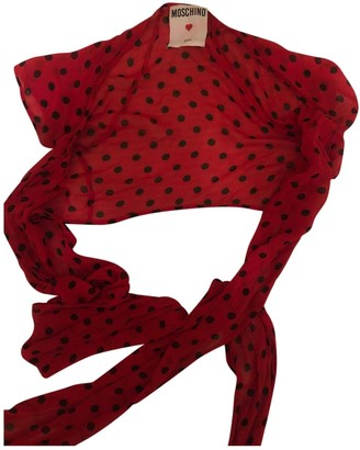Moschino Love Red Linen Top for Women