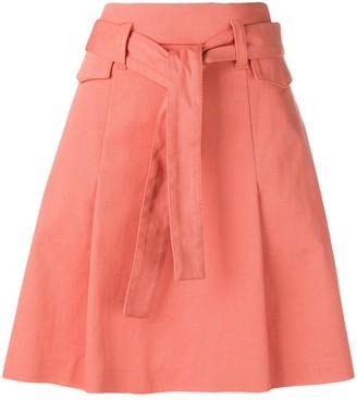 Dorothee Schumacher belted A-line skirt