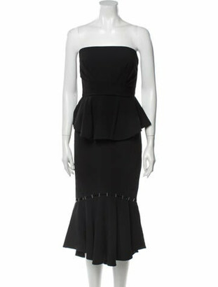 Jonathan Simkhai Strapless Midi Length Dress Black