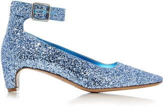 Maison Margiela Cinderella Glittered Leather Pumps