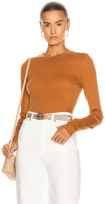 Enza Costa for FWRD Fitted Long Sleeve Crew in Toffee | FWRD