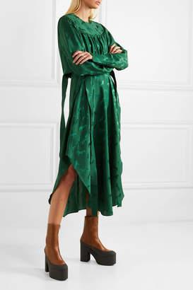 Stella McCartney Net Sustain Belted Jacquard Dress - Green