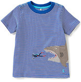 Joules Little Boys 3-6 Archie Diver & Shark Applique Short-Sleeve Top