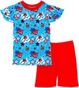 New Jammies Unisex 2Pc Stars Spangled T-Shirt & Short Lounge Set