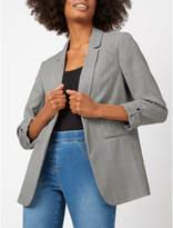 Blaze George Open Front Check Blazer Jacket