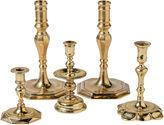 One Kings Lane Vintage Brass Candlesticks, S/5